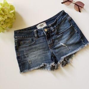 VS Pink Dark Wash Cuttoff Denim Shorts